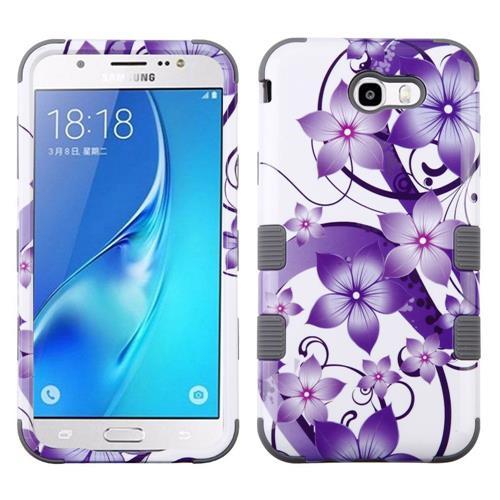 Insten Hibiscus Flower Hard Case For Samsung Galaxy J7 (2017)/J7 Perx/J7 Sky Pro/J7 V, Purple
