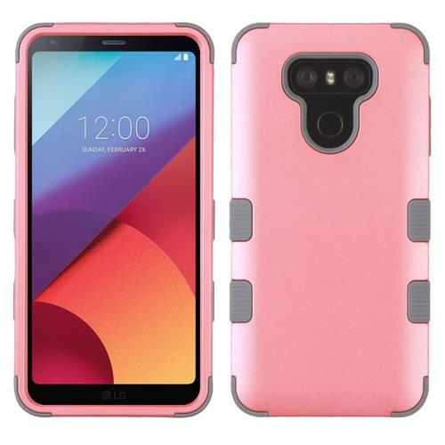 Insten Tuff Hard Hybrid Silicone Cover Case For LG G6 - Pink/Gray