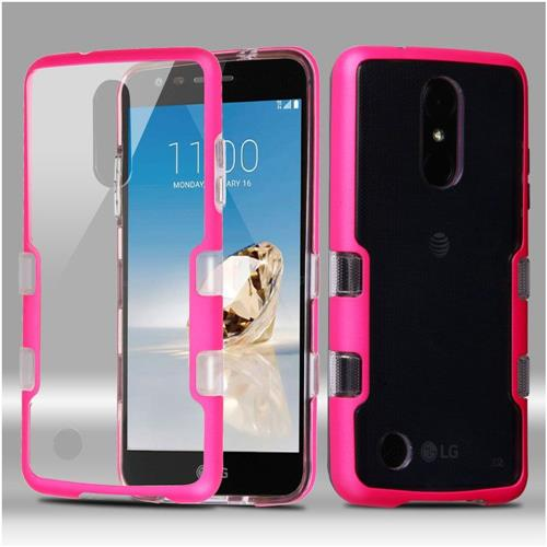 Insten Hard Crystal TPU Cover Case For LG Aristo/Fortune/K4 (2017)/K8 (2017)/Phoenix 3, Clear/Pink