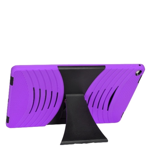 "Insten Gel Dual Layer Rubber Hard Case w/stand For Apple iPad Pro 12.9"" - Purple/Black"