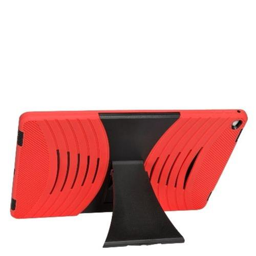 """Insten Skin Dual Layer Rubber Hard Cover Case w/stand For Apple iPad Pro 12.9"""" - Red/Black"""