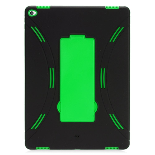 "Insten Skin Hybrid Rubber Hard Case w/stand For Apple iPad Pro 12.9"" - Black/Green"