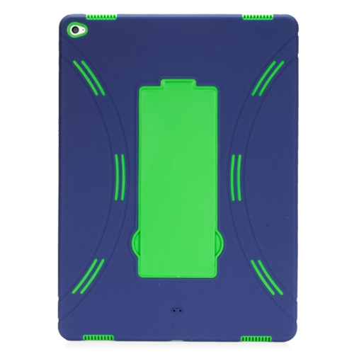 """Insten Soft Hybrid Rubber Hard Cover Case w/stand For Apple iPad Pro 12.9"""" - Black/Green"""