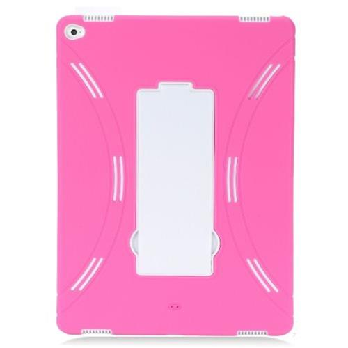 "Insten Rubber Hybrid Hard Cover Case w/stand For Apple iPad Pro 12.9"" - Hot Pink/White"