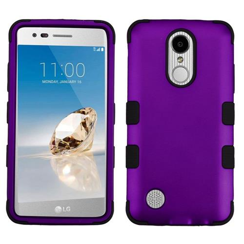 Insten Hard Hybrid Silicone Case For LG Aristo/Fortune/K8 (2017)/LV3/Phoenix 3 - Purple/Black