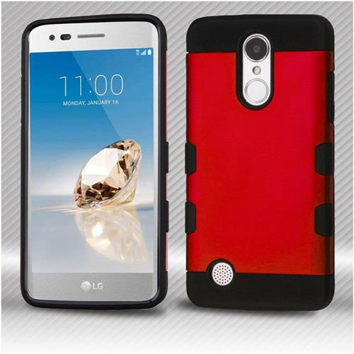 Insten Hard Hybrid TPU Cover Case For LG Aristo/Fortune/K8 (2017)/LV3/Phoenix 3 - Red/Black