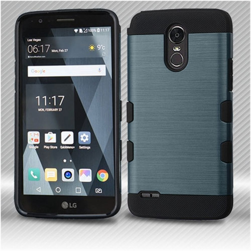 Insten Hard Hybrid TPU Case For LG Stylo 3 - Blue/Black