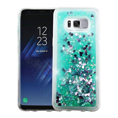 Insten Hearts Hard Glitter TPU Cover Case For Samsung Galaxy S8 - Green