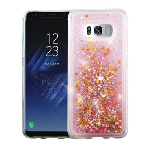 Insten Stars Hard Glitter TPU Cover Case For Samsung Galaxy S8 - Pink