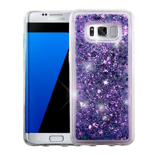 Insten Hearts Hard Glitter TPU Case For Samsung Galaxy S8 Plus - Purple