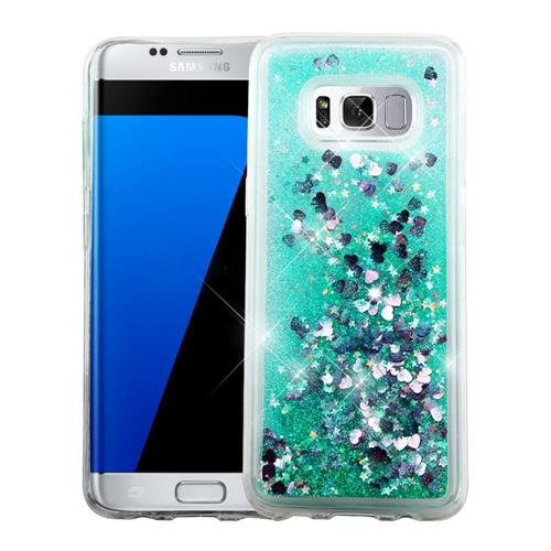 Insten Hearts Hard Glitter TPU Case For Samsung Galaxy S8 Plus - Green