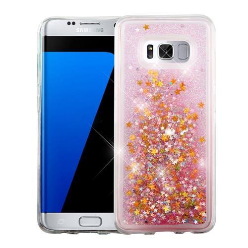Insten Stars Hard Glitter TPU Case For Samsung Galaxy S8 Plus - Pink