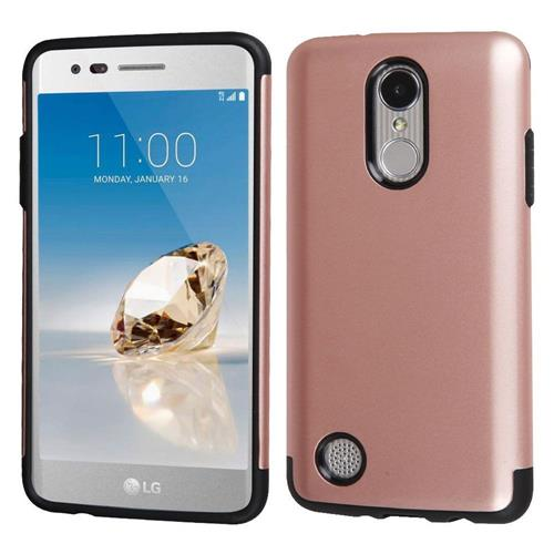 Insten Hard Hybrid TPU Cover Case For LG Aristo/Fortune/K8 (2017)/LV3/Phoenix 3 - Rose Gold/Black