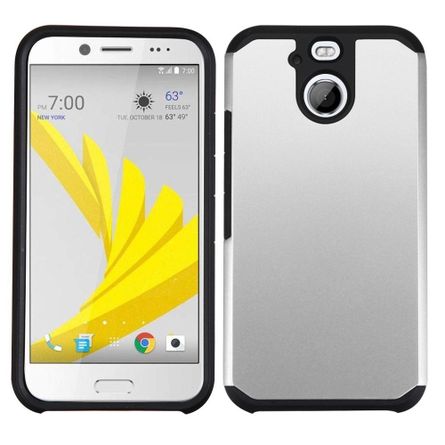 Insten Hard Hybrid Silicone Cover Case For HTC 10 EVO / Bolt - Silver/Black