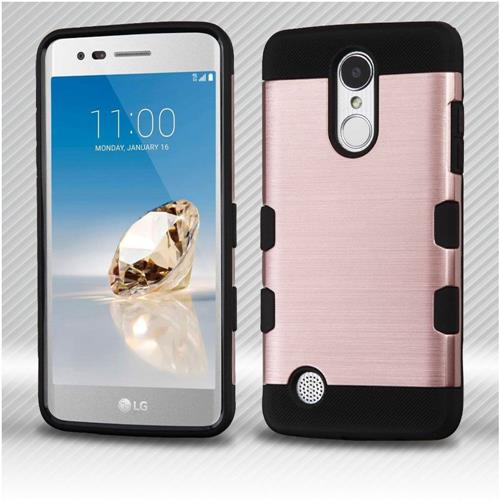 Insten Hard Hybrid TPU Case For LG Aristo/Fortune/K8 (2017)/LV3/Phoenix 3 - Rose Gold/Black