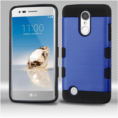 Insten Hard Dual Layer TPU Cover Case For LG Aristo/Fortune/K8 (2017)/LV3/Phoenix 3 - Blue/Black