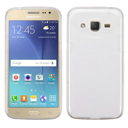Insten Rubber Case For Samsung Galaxy J2 (2016) - Clear