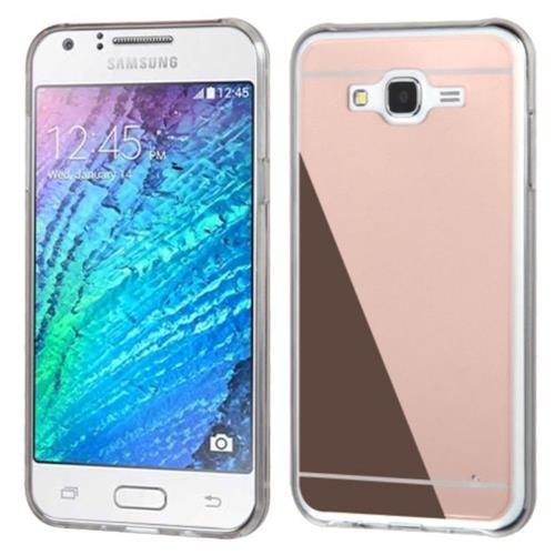 Insten Gel Case For Samsung Galaxy J7 (2015) - Rose Gold