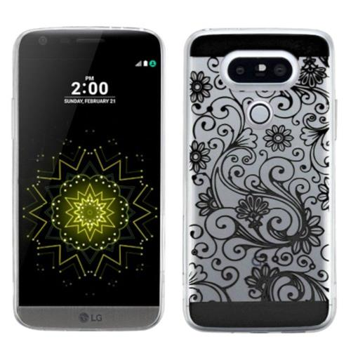Insten Four-leaf Clover TPU Case For LG G5 - Black
