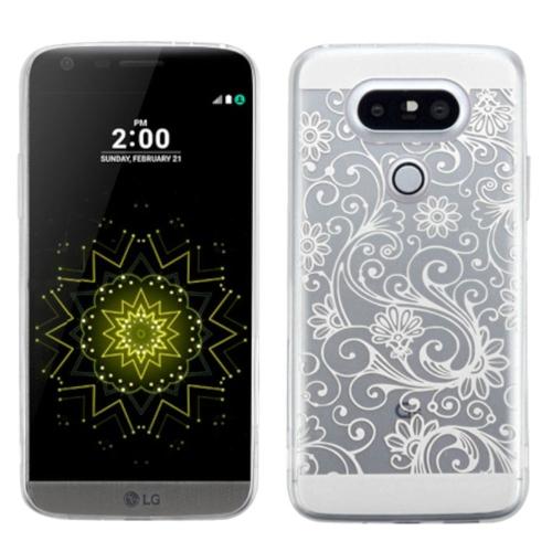 Insten Four-leaf Clover Rubber Case For LG G5 - White