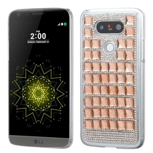 Insten Hard Rhinestone Cover Case For LG G5 - Rose Gold