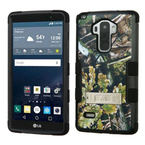 Insten English Oak Hard Rubberized Cover Case w/stand For LG G Stylo LS770/G Vista 2, Green/Black