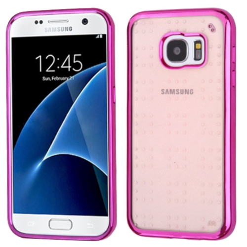Insten Gel Case For Samsung Galaxy S7 - Hot Pink