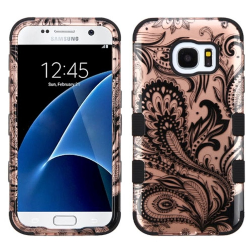 Insten Fitted Soft Shell Case for Samsung Galaxy S7 - Black;Rose Gold
