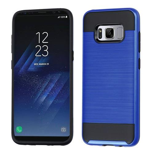 Insten Hard Hybrid Brushed TPU Cover Case For Samsung Galaxy S8 Plus - Blue/Black