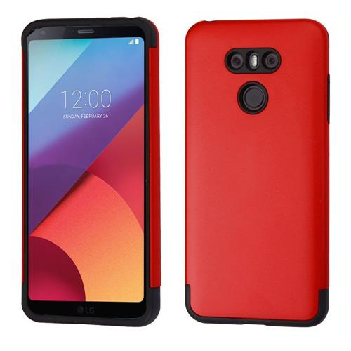 Insten Hard Hybrid TPU Case For LG G6 - Red/Black