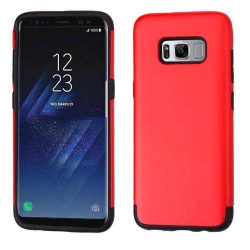 Insten Hard Dual Layer TPU Case For Samsung Galaxy S8 - Red/Black