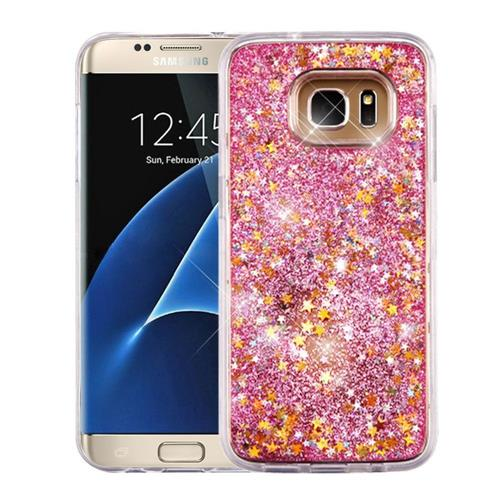 Insten Quicksand Stars Hard Glitter TPU Case For Samsung Galaxy S7 Edge - Pink