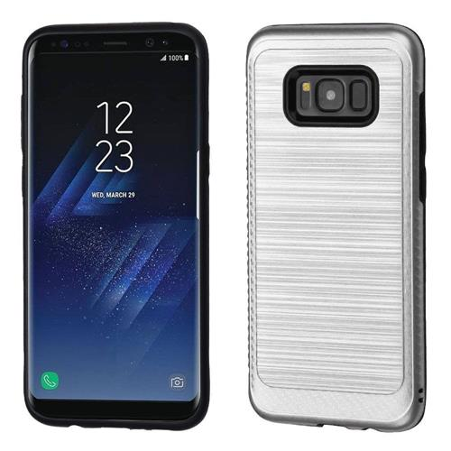 Insten Fitted Soft Shell Case for Samsung Galaxy S8 Plus - Silver;Black