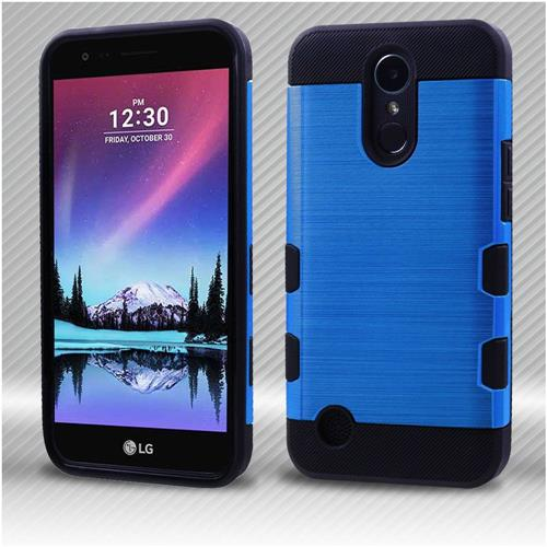 Insten Tuff Hard Hybrid Brushed TPU Cover Case For LG Harmony/K10 (2017)/K20 Plus - Blue/Black