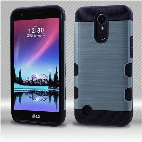Insten Tuff Hard Hybrid Brushed TPU Cover Case For LG Harmony/K10 (2017)/K20 Plus - Blue/Black