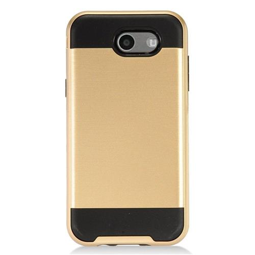 Insten Hard Dual Layer TPU Cover Case For Samsung Galaxy J3 (2017) - Gold/Black