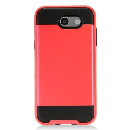 Insten Hard Dual Layer TPU Case For Samsung Galaxy J3 (2017) - Red/Black
