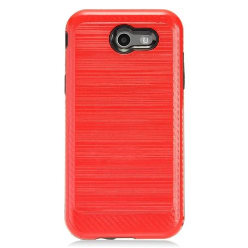 Insten Hard Dual Layer TPU Cover Case For Samsung Galaxy J3 (2017) - Red