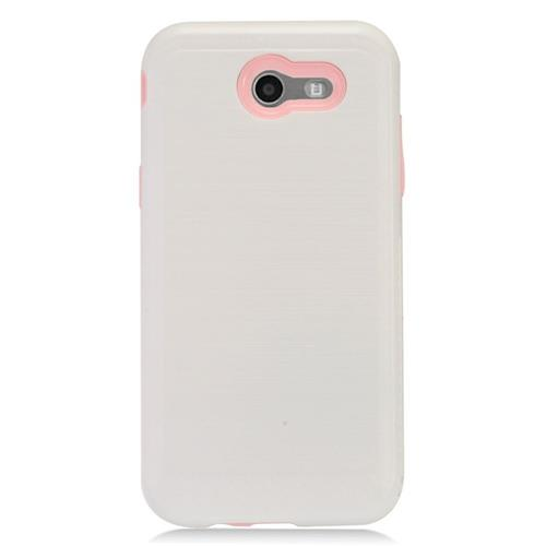 Insten Hard Hybrid TPU Cover Case For Samsung Galaxy J3 (2017) - White