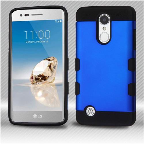 Insten Hard Hybrid TPU Cover Case For LG Aristo/Fortune/K8 (2017)/LV3/Phoenix 3 - Blue/Black