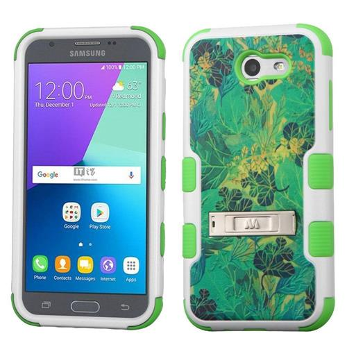 Insten Tuff Leaves Hard Cover Case For Samsung Galaxy Express Prime 2/J3 (2017) - Green
