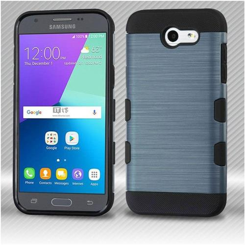 Insten Hard Dual Layer TPU Case For Samsung Galaxy Express Prime 2/J3 (2017) - Blue/Black