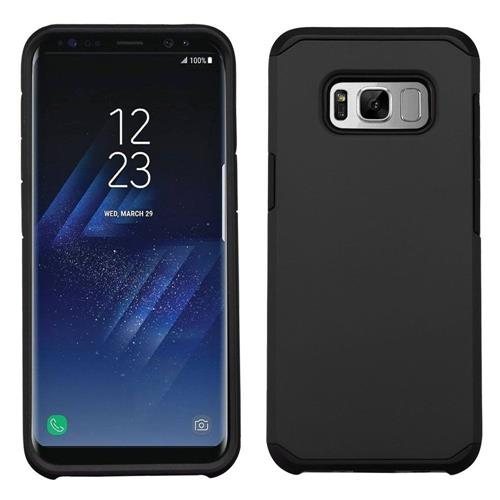 Insten Hard Hybrid Rubberized Silicone Case For Samsung Galaxy S8 - Black