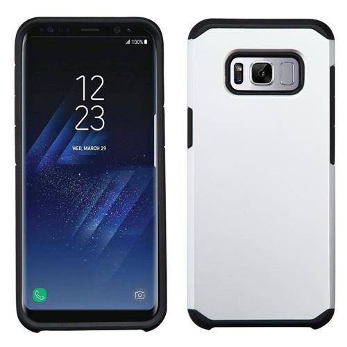 Insten Hard Dual Layer Silicone Cover Case For Samsung Galaxy S8 - Silver/Black