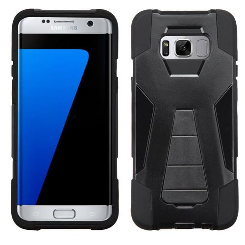 Insten Hard Hybrid Plastic Silicone Cover Case w/stand For Samsung Galaxy S8 Plus - Black