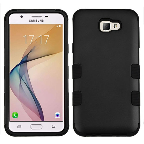 Insten Tuff Hard Hybrid Rubber Coated Silicone Case For Samsung Galaxy J5 Prime/On5 (2016) - Black