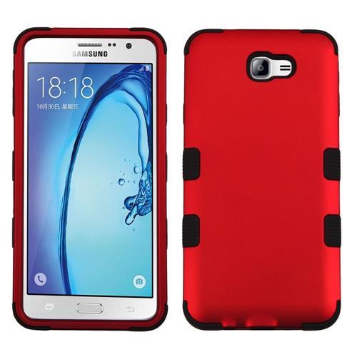 Insten Tuff Hard Hybrid Silicone Case For Samsung Galaxy On7 (2016) - Red/Black