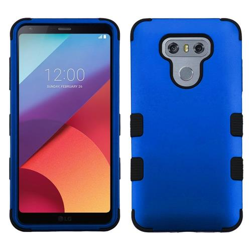 Insten Tuff Hard Dual Layer Silicone Cover Case For LG G6 - Blue/Black
