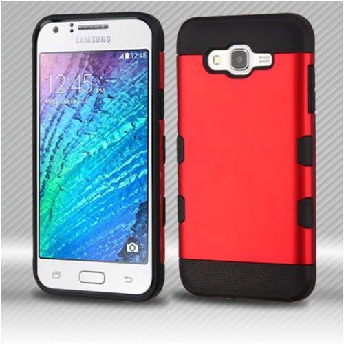 Insten Hard TPU Case For Samsung Galaxy J7 (2015) - Red/Black