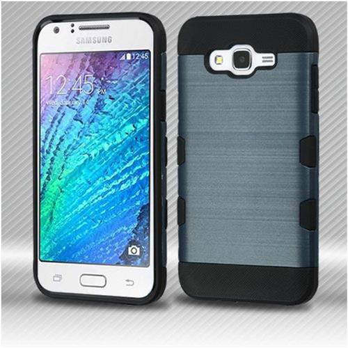 Insten Hard TPU Case For Samsung Galaxy J7 (2015) - Blue/Black
